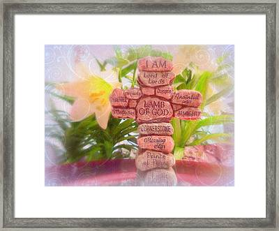 Names Of Lord Cross Framed Print by Cindy Wright