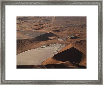 Namibia Aerial IIi Framed Print by Nina Papiorek