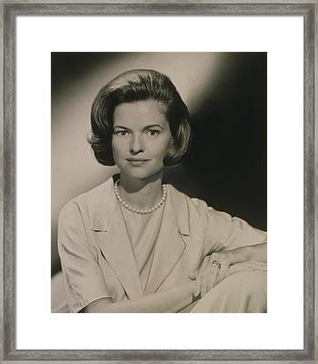 Nancy Dickerson 1927-1997 Was Hired Framed Print by Everett