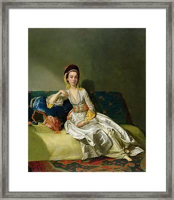 Nancy Parsons In Turkish Dress Framed Print by George Willison