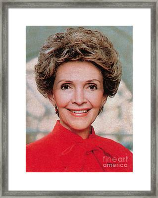 Nancy Reagan, 40th First Lady Framed Print by Photo Researchers