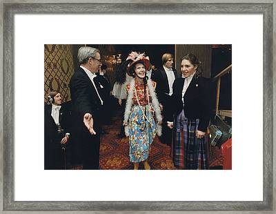 Nancy Reagan In Her Second-hand Clothes Framed Print