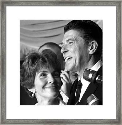 Nancy Reagan, Ronald Reagan Framed Print by Everett