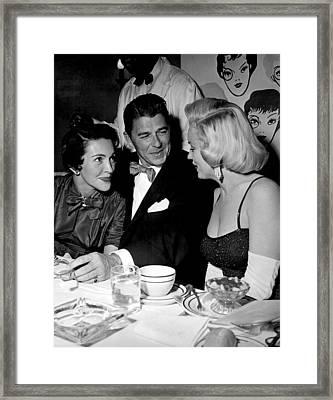 Nancy Reagan, Ronald Reagan, Marilyn Framed Print by Everett