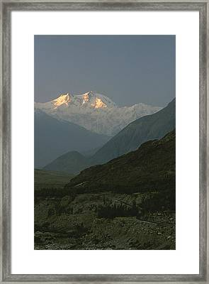 Nanga Parbat At Sunrise Framed Print by George F. Mobley