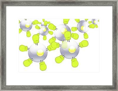 Nano-bulbs, Conceptual Image Framed Print