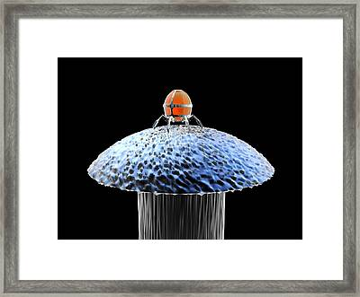 Nanorobot On Pin Framed Print