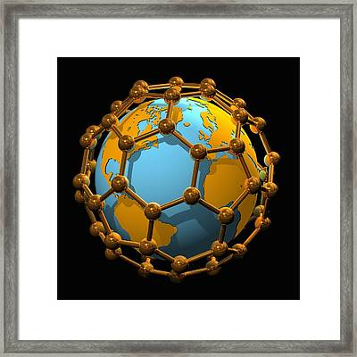 Nanotechnology, Conceptual Artwork Framed Print