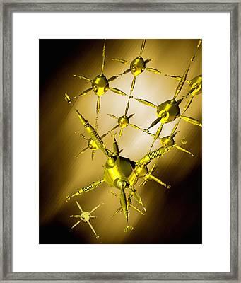 Nanotechnology Simulators Framed Print by Victor Habbick Visions