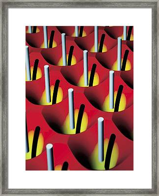 Nanowire Tweezers, Computer Artwork Framed Print by Peidong Yanguc Berkeley
