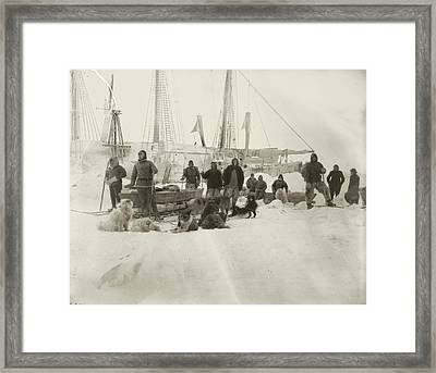 Nansen Prepares To Leave The Fram Framed Print by National Library of Norway