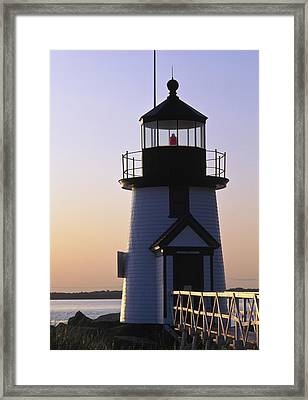 Nantucket Brant Point Lighthouse Framed Print by Axiom Photographic