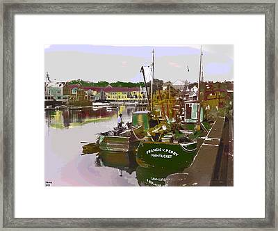 Framed Print featuring the mixed media Nantucket by Charles Shoup