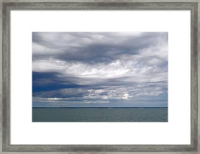 Nantucket Sound Sky Framed Print by Paul Donovan