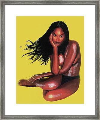 Naomi Campbell Framed Print