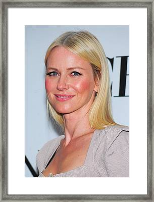 Naomi Watts At Arrivals For American Framed Print by Everett