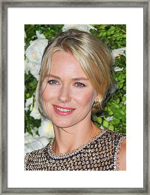 Naomi Watts At Arrivals For Chanel 6th Framed Print by Everett