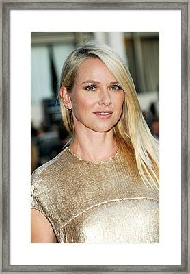 Naomi Watts At Arrivals For The 2011 Framed Print by Everett
