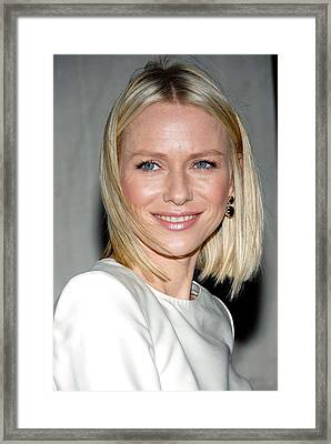 Naomi Watts In Attendance For Tommy Framed Print