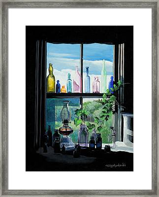 Naomi's Window Framed Print