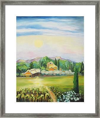 Napa Moon Framed Print