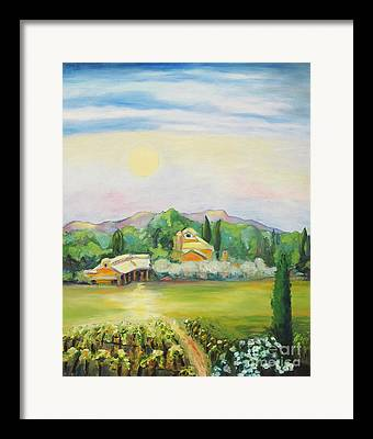 Nappa County Moon Framed Prints