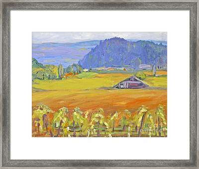 Napa Valley Mountains Framed Print