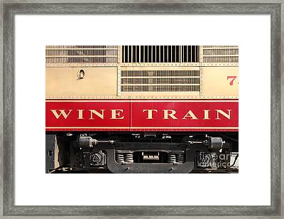 Napa Valley Railroad Wine Train In Napa California Wine Country . 7d8988 Framed Print by Wingsdomain Art and Photography