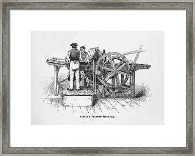 Napier's Printing Machine Framed Print by Science, Industry & Business Librarynew York Public Library
