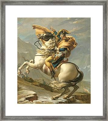 Napoleon Framed Print by Jacques Louis David