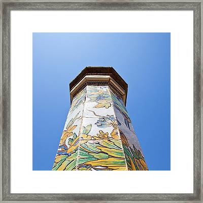 Napoli - Column In The Sky Framed Print by Paolo Modena