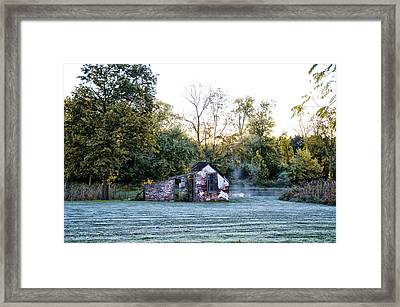 Narcissa Springhouse In Fall Framed Print by Bill Cannon