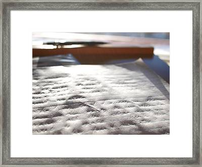 Narcissism's Meaningless Impressions  Framed Print