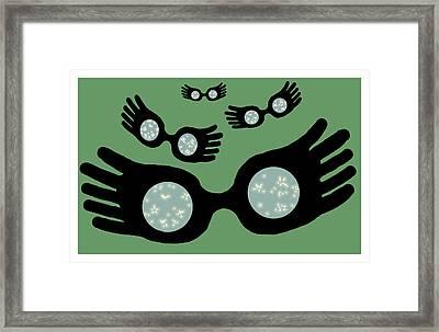 Nargles Slytherin Framed Print by Jera Sky