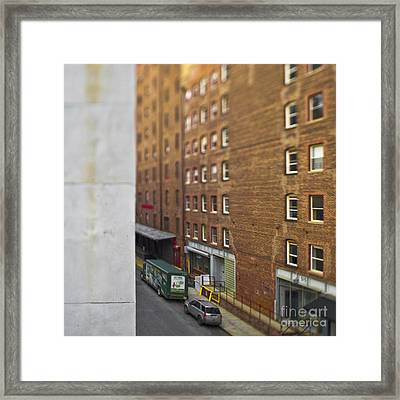 Narrow City Street Framed Print