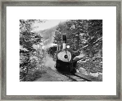 Narrow Gauge Memories Black And White Framed Print by Ken Smith