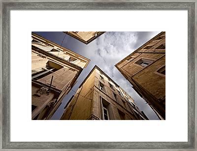 Narrow Streets Of Montpellier Framed Print by Evgeny Prokofyev