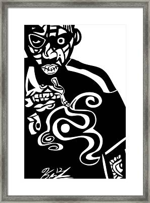 Nas  Up In Smoke Framed Print by Kamoni Khem