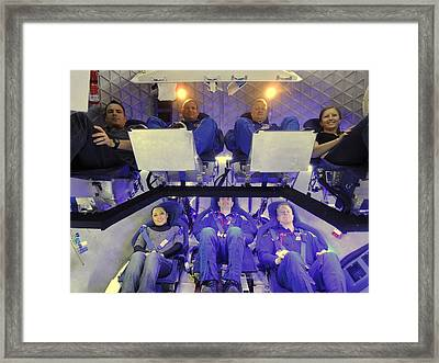 Nasa Astronauts And Industry Experts Framed Print by Everett