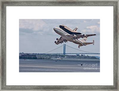 Nasa Enterprise Space Shuttle Framed Print by Susan Candelario