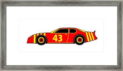 Nascar Winner Virtual Car Framed Print by Asbjorn Lonvig