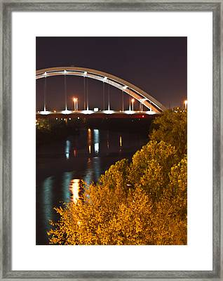 Nashville Bridge By Night 2 Framed Print by Douglas Barnett