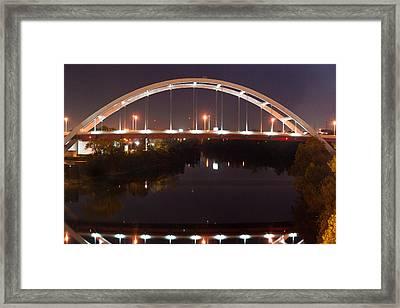 Nashville Bridge By Night 3 Framed Print by Douglas Barnett