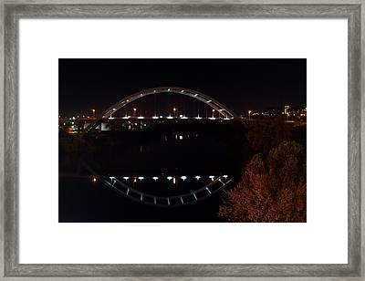 Nashville Bridge By Night 6 Framed Print by Douglas Barnett