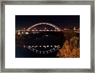 Nashville Bridge By Night 7 Framed Print by Douglas Barnett