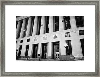 Nashville City Hall Davidson County Public Building And Court House Tennessee Usa Framed Print by Joe Fox