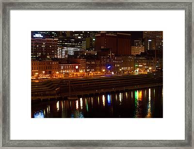 Nashville River Front By Night 1 Framed Print by Douglas Barnett