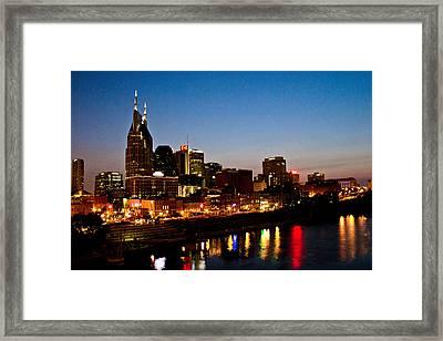 Nashville Skyline Framed Print by Elizabeth Wilson