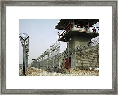 Nasiriyah Prison Under Construction Framed Print by Everett