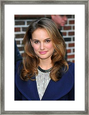 Natalie Portman At A Public Appearance Framed Print by Everett